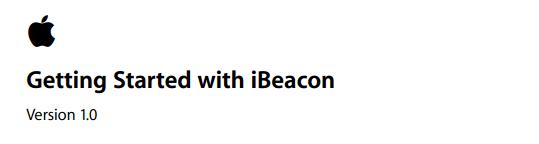 IBeacon GetStart